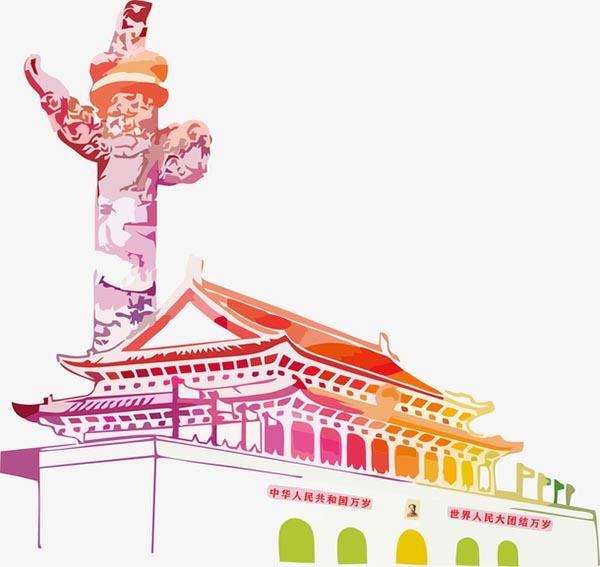 天安门城门护国柱