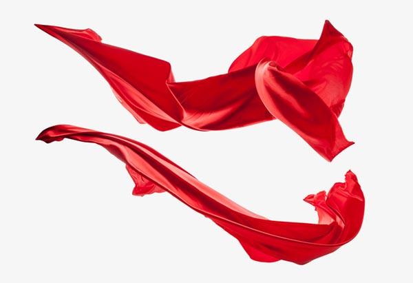 红色绸缎带子