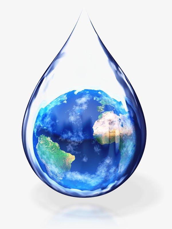 水滴地球素材
