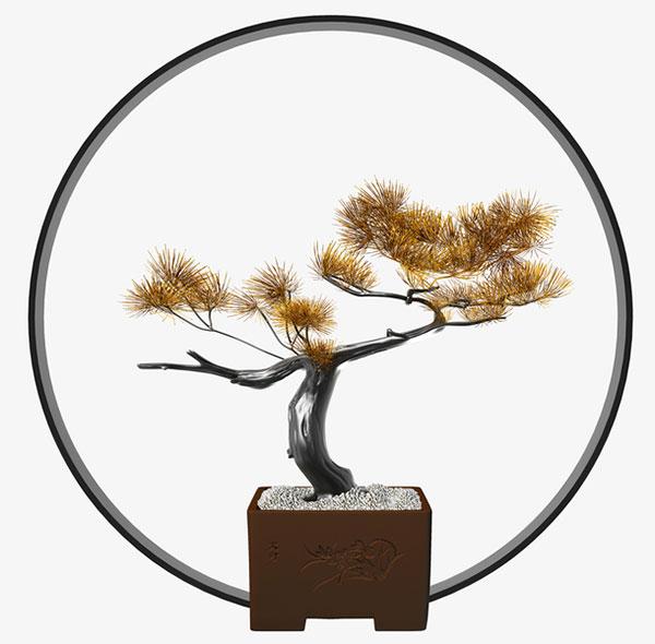 中式盆景摆件