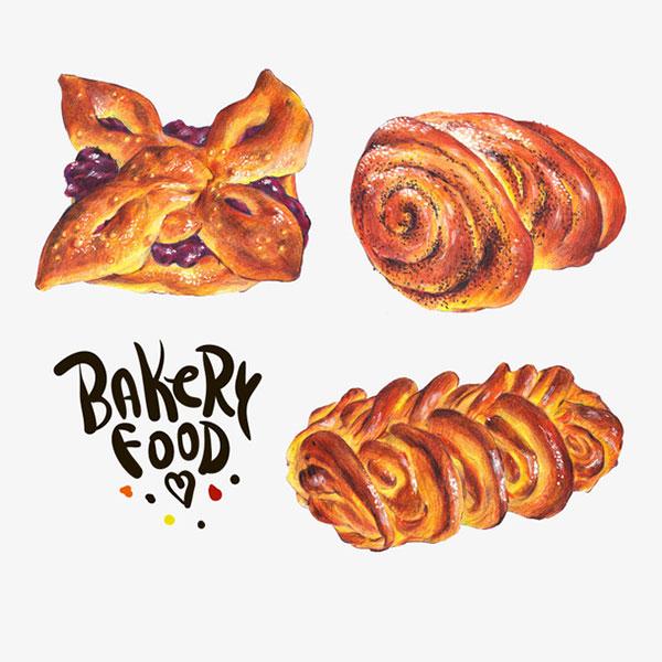 花式早餐面包