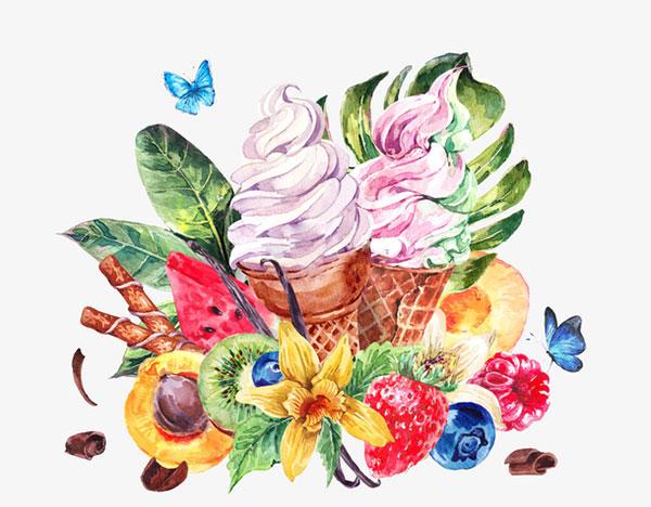 水果冰淇淋圣代
