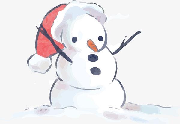 冬日卡通雪人