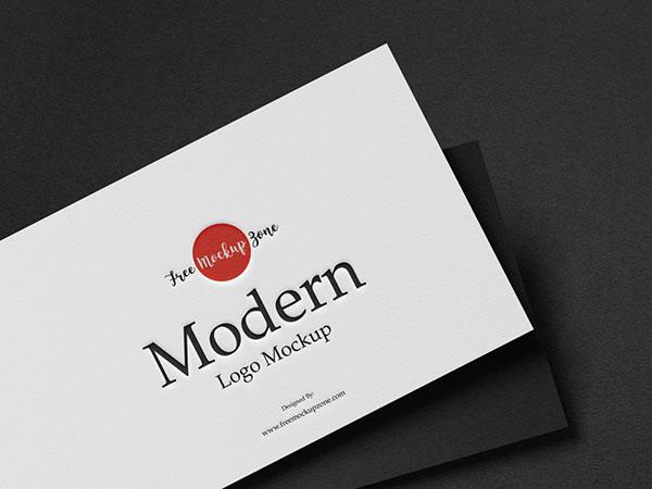 现代徽标样机