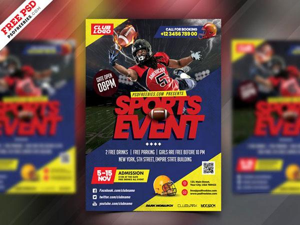 橄榄球赛事海报
