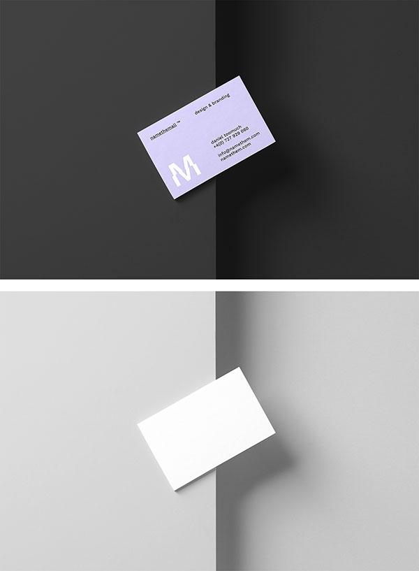 名片设计展示样机