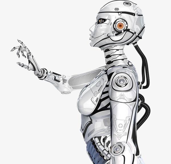 白色的机器人