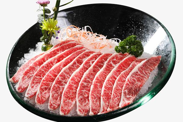新鲜雪花牛肉
