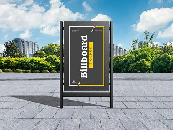 现代城市广告牌样机