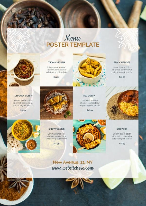 菜单海报设计