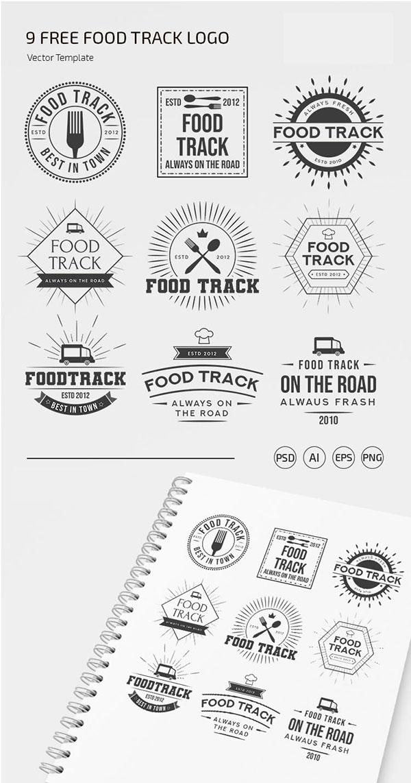 食品徽标模板