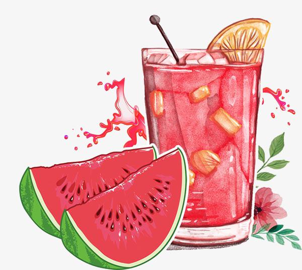 夏天西瓜汁冷饮