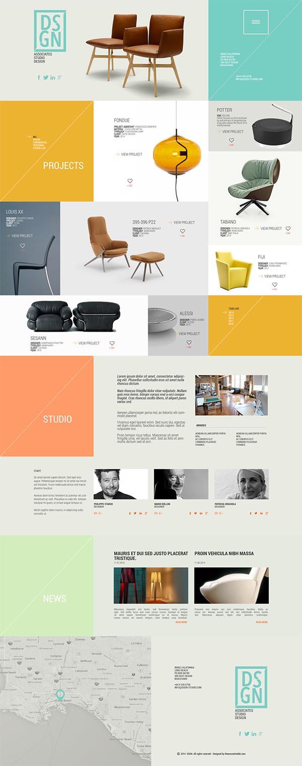 家具网页模板