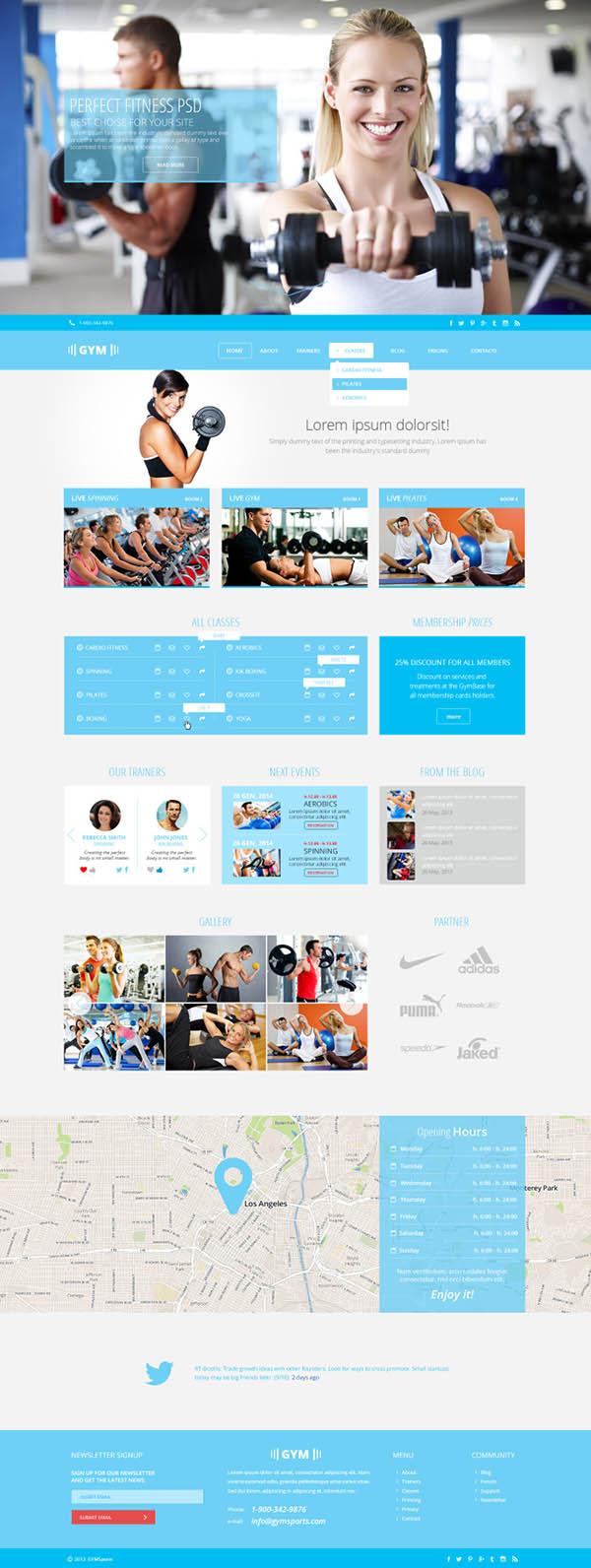 健身俱乐部网页