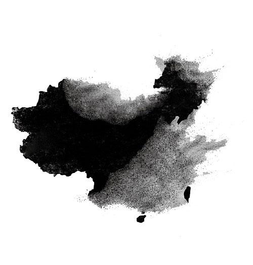 水墨中国地图