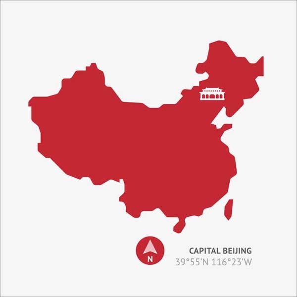 扁平化中国地图