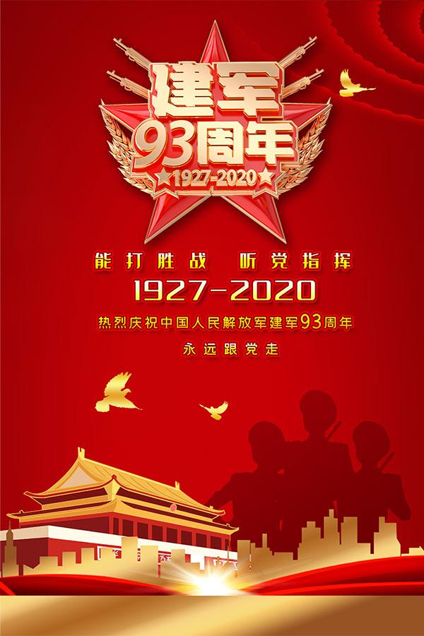 建军节93周年海报