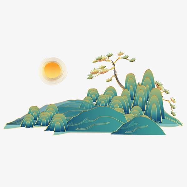 国潮中国风青山
