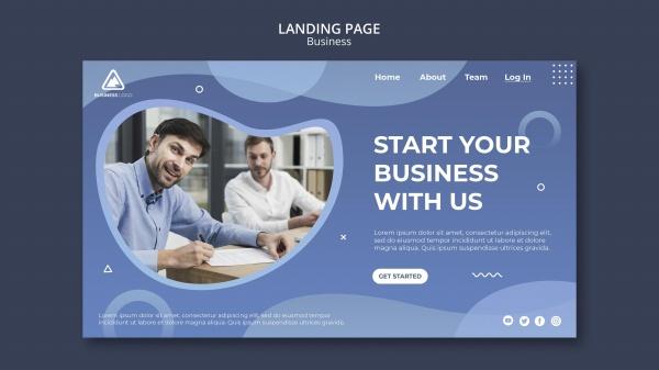 商业概念登录页