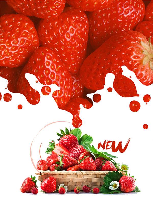 草莓宣传海报背景