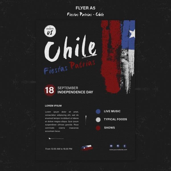 国际智利日传单