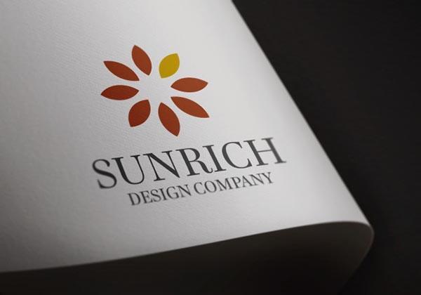 卡纸上的logo样机