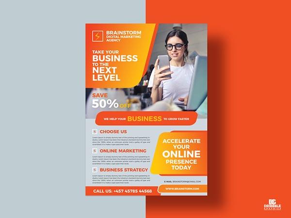 社交媒体业务营销传单