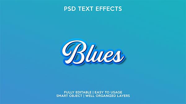 蓝底白色立体字