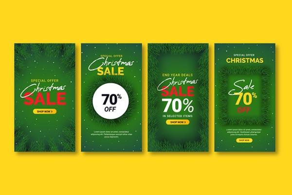圣诞节ins促销广告