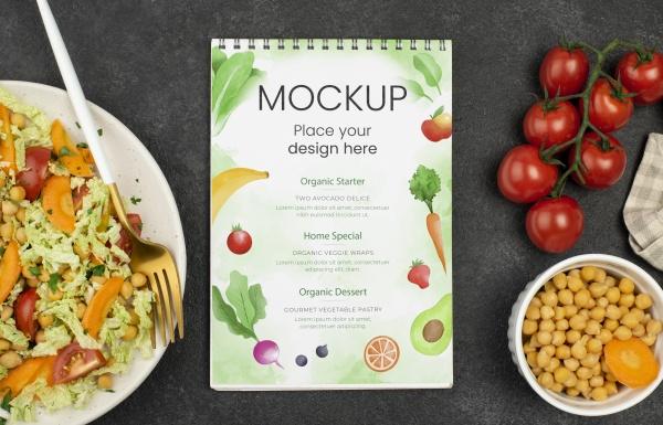 健康食物海报样机