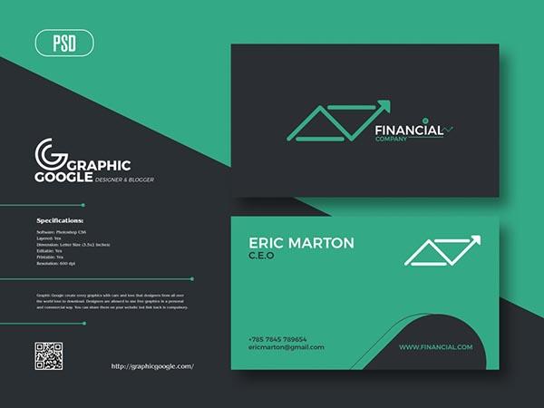 金融名片设计模板