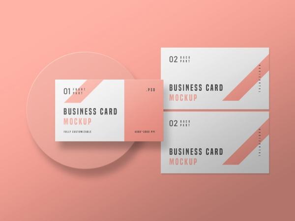 粉色商务卡片样机