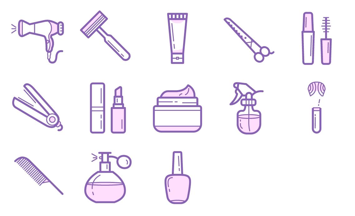 美发护肤产品图标