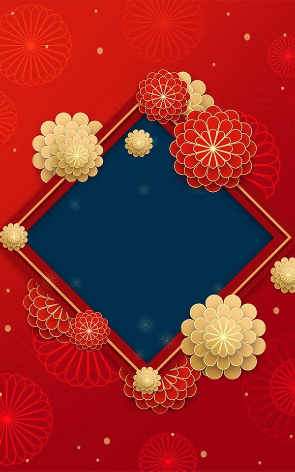 新年春节海报背景