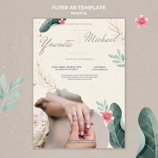 婚礼宣传单模板
