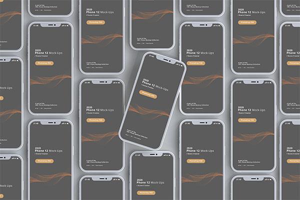 平铺iPhone12样机