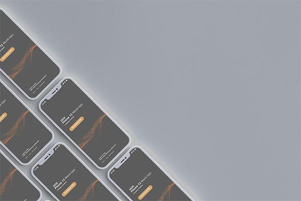 iPhone12平铺样机