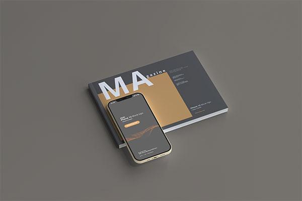 杂志上iPhone12样机