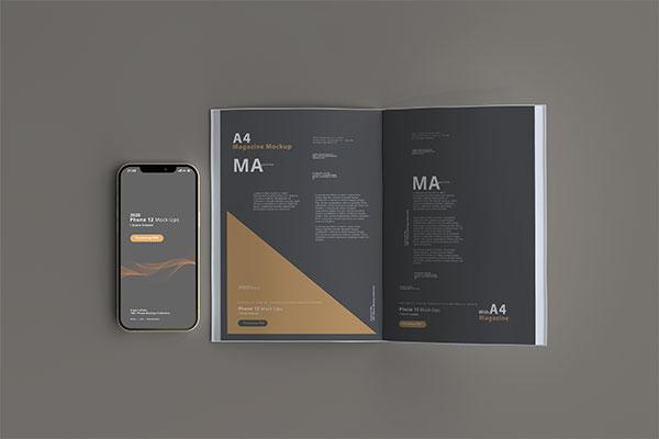 iPhone12与杂志样机