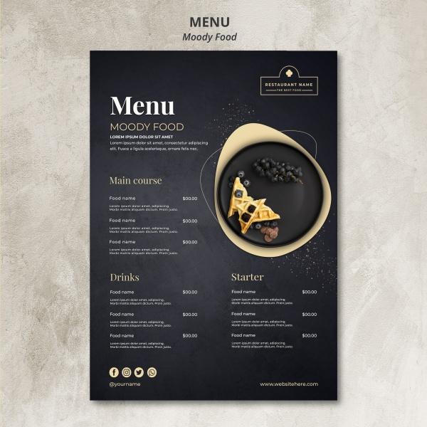 甜品店菜单模板