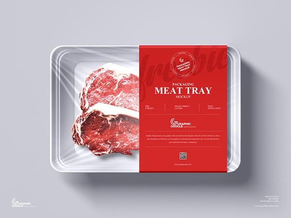 肉类生鲜包装盒样机