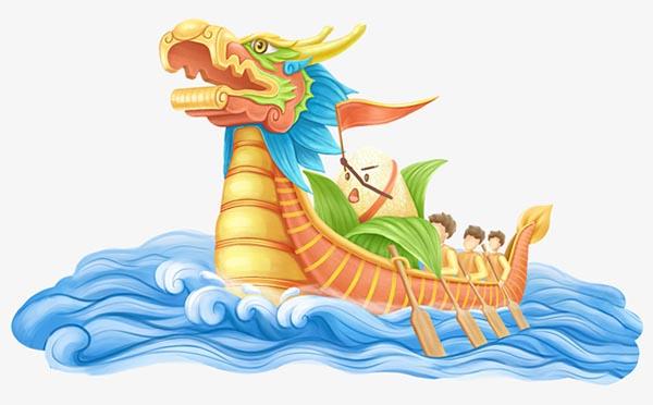 端午节卡通赛龙舟