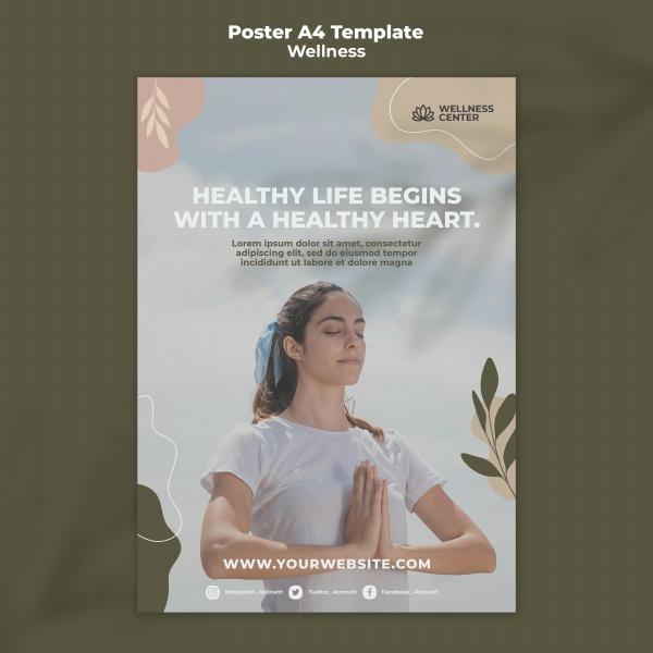 健康冥想海报