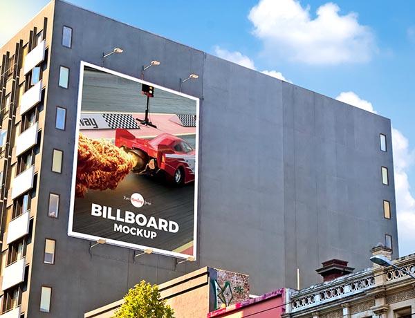 户外建筑墙广告牌样机