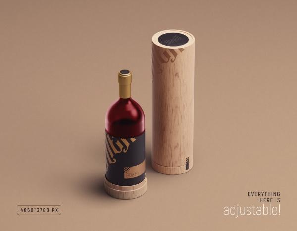 红酒瓶样机模板