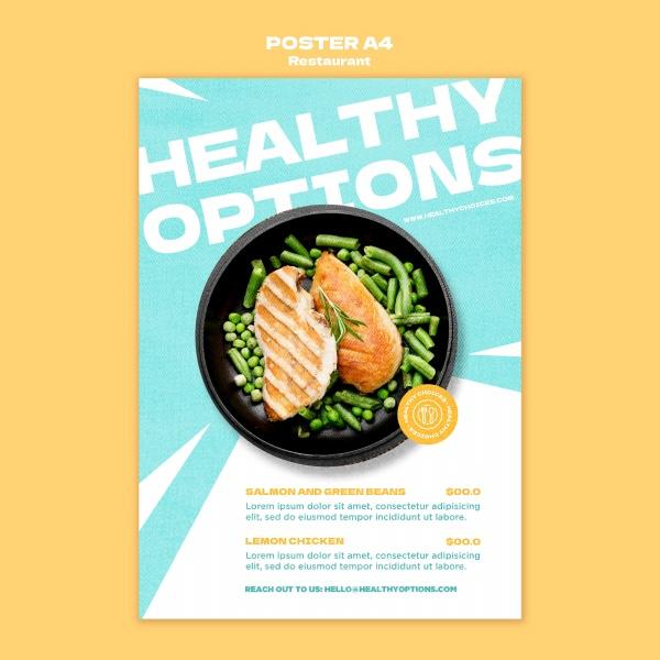 健康餐食宣传广告海报