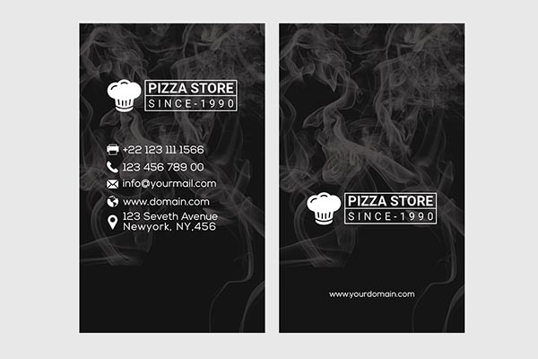 披萨店名片模板