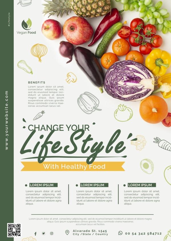 健康饮食生活方式海报