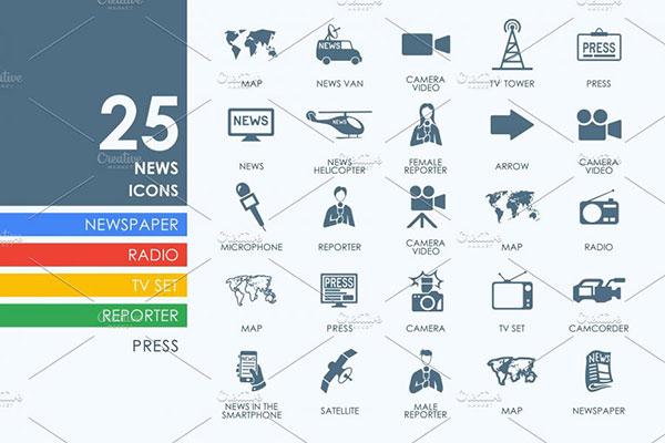 25枚新闻图标