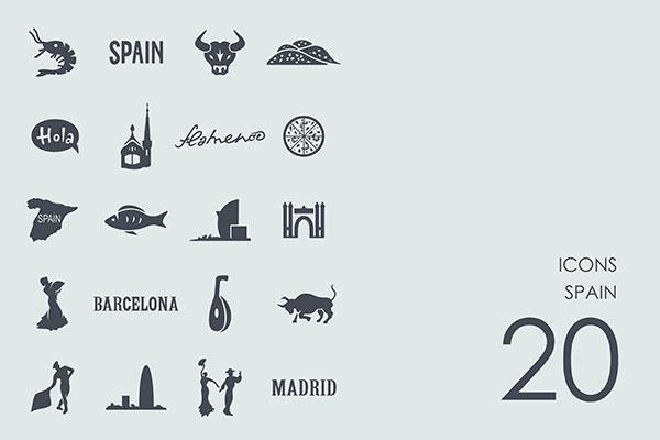 西班牙主题图标
